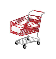 Red shopping cart vector