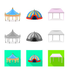 Roand folding icon set vector