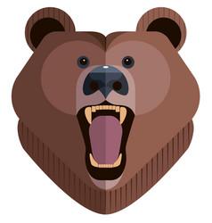 Roaring bear head vector