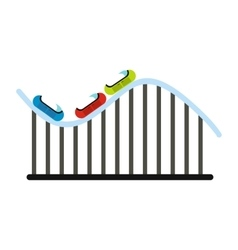 Roller coaster icon vector