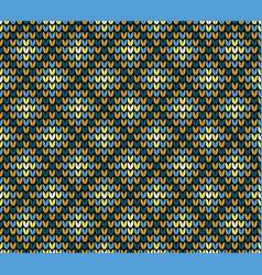 seamless golden rhombus knitting pattern vector image