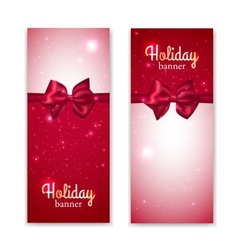 set two vertical holiday banners vector image