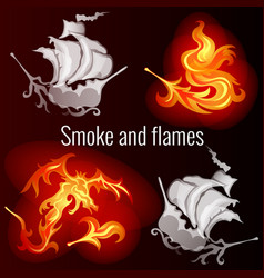 sketch for a poster on the theme of fire and smoke vector image