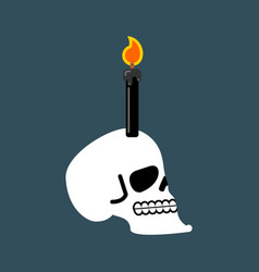 skull for black magic head of skeleton and black vector image