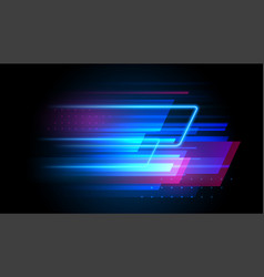 Speed line motion background dynamic blue vector