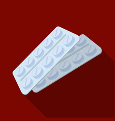 Tablets in the packageold age single icon in flat vector
