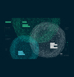 Three databases data analysis and sorting digital vector