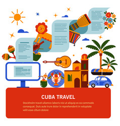 Tourist banner of cuban culture vector