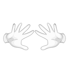 Two hands motion icon black monochrome style vector