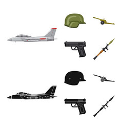 Weapon and gun logo set of vector