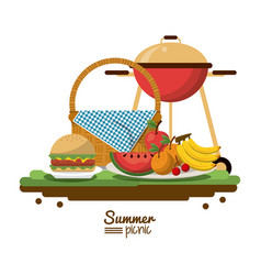 White background of colorful poster of summer vector