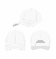 white baseball cap vector image