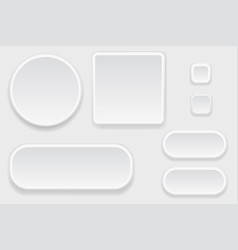 white blank buttons set of interface elements vector image
