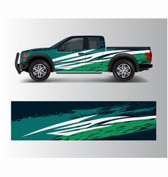 wrap graphic design for off road truck abstract vector image