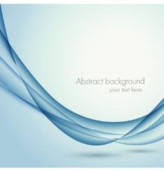 Abstract wavy background in blue color vector image vector image