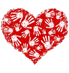 heart print vector image vector image