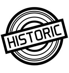 Historic typographic stamp vector