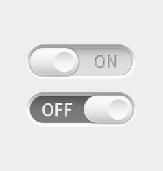 on and off long oval icons toggle switch vector image