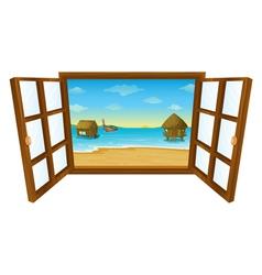 Sea View Window vector image