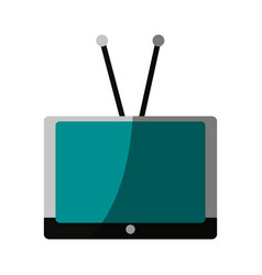 Vintage tv with antenna icon imag vector