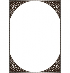 ancient frame patterns vector image vector image
