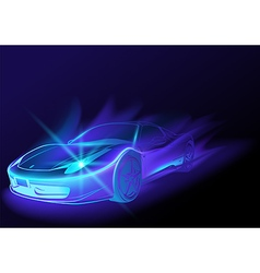 Blue Glowing Car vector image vector image