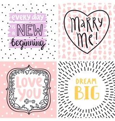 Happy cards set 2 vector image vector image
