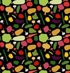 pattern vegetable background Vegetables fresh vector image vector image