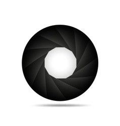 Aperture background vector image