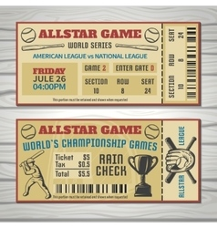 Baseball Competitions Tickets vector image