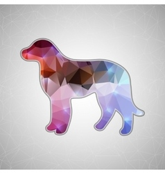 Creative concept dog icon isolated on vector