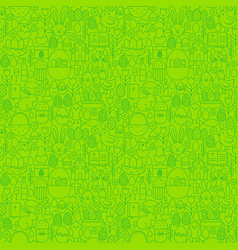 easter green seamless pattern vector image