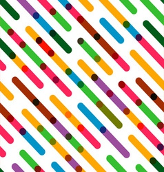 Flat Background with Colorful Diagonal Lines vector image