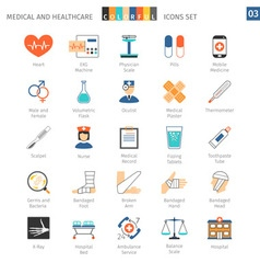 Medical Colorful Icons Set 03 vector image vector image