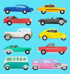 Retro vintage old style car vehicle automobile vector