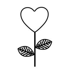 Figure heart balloon plant icon vector