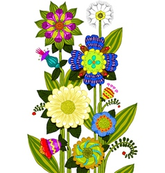 flowers colored vector image