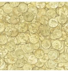 Golden coins texture vector image vector image