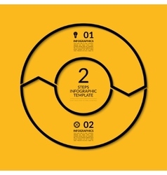 Infographic circle template with 2 steps vector image vector image