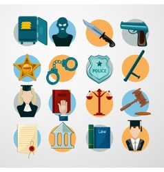 Law Icons Flat vector image vector image