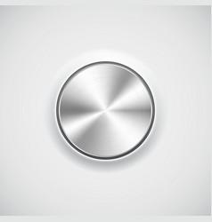 Modern volume knob button vector image vector image