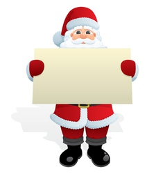 santa with message vector image vector image