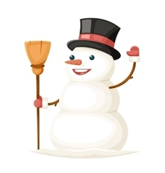 Snowman Character Christmas New Year Isolated Icon vector image