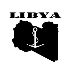 symbol of libya and map vector image