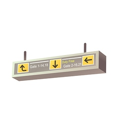 A guidepost in the airport vector