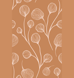 abstract botanical seamless pattern in light vector image