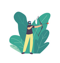 archery sport or game teenager archer character vector image