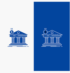 architecture bank banking building federal line vector image