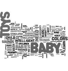 Baby toys text word cloud concept vector