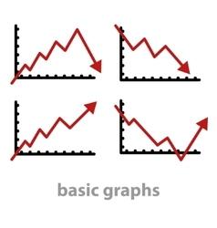 basic graphs vector image